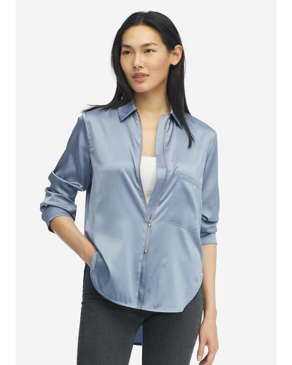 Classic Casual Women Silk Shirt