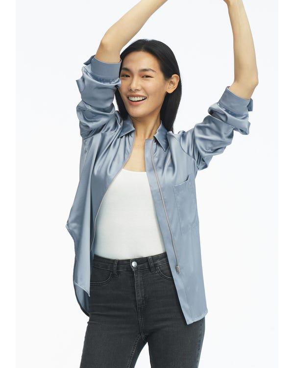 Classic Casual Women Silk Shirt-hover