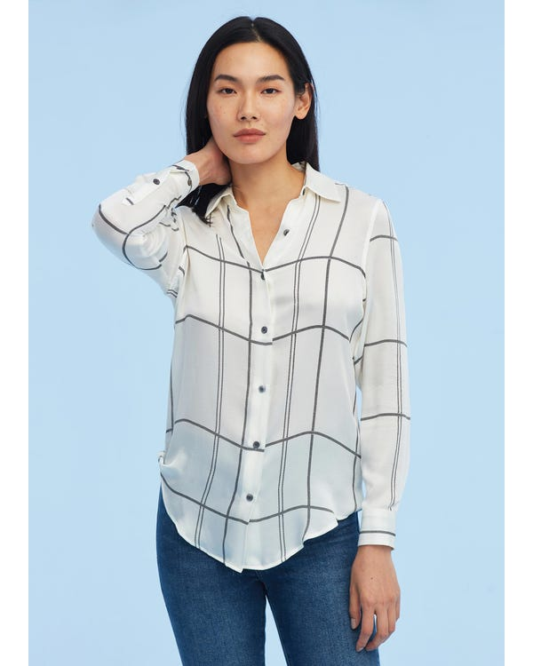 Casual Print Silk Mulberry Shirt-hover