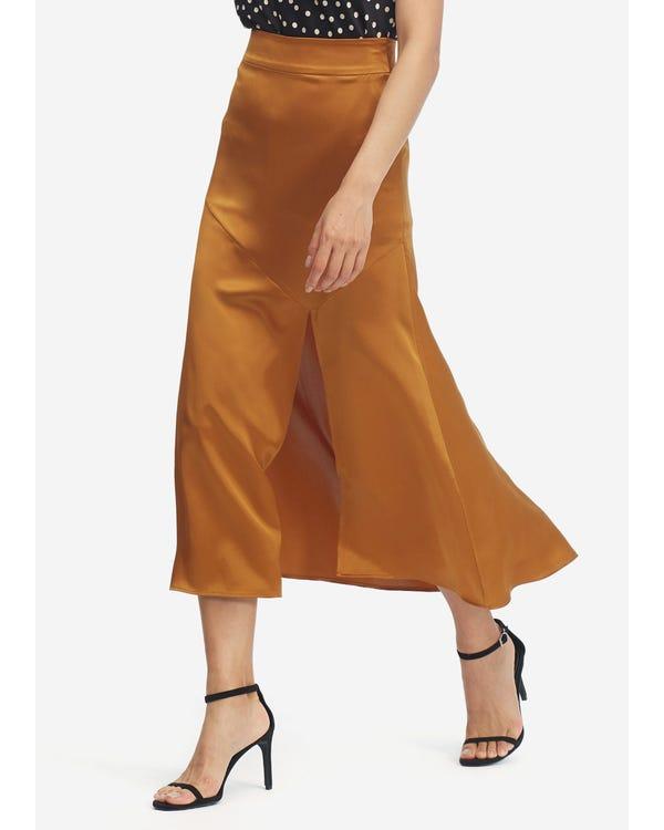 Women Sexy Slit Midi Skirt