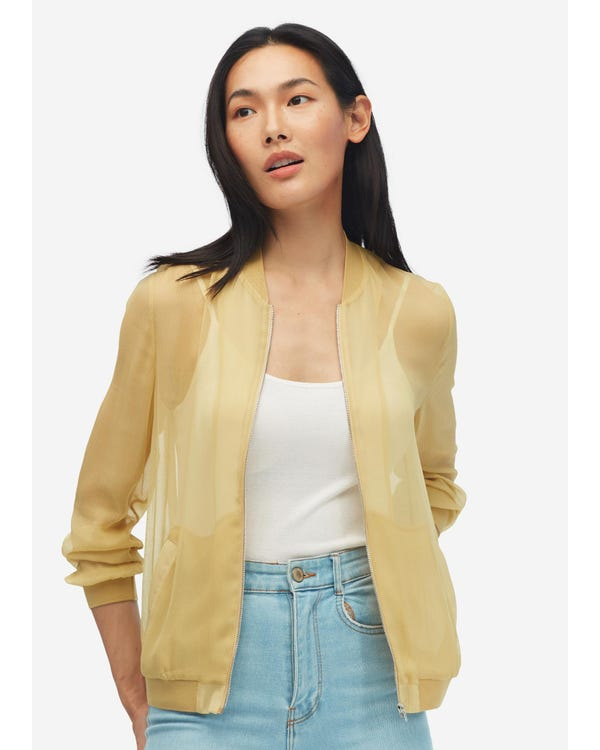 Lightweight Zipper Silk Jacket