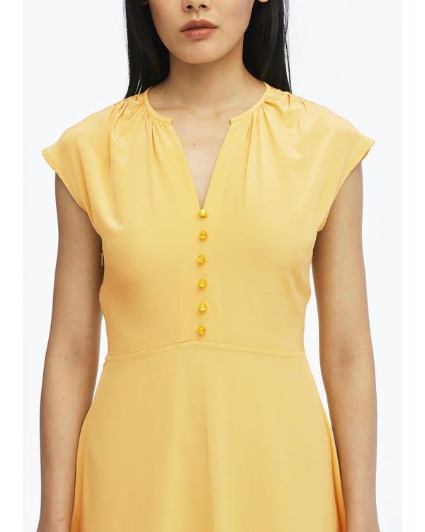 Sexy V Neck Silk Swing Dress-hover