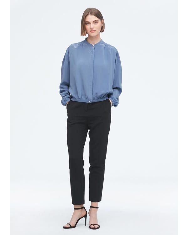 Designer Simple Summer Silk Shirt-hover