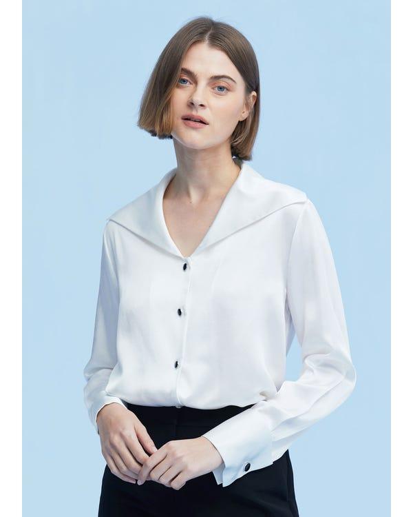 Women Cufflinks Long Sleeve Shirt