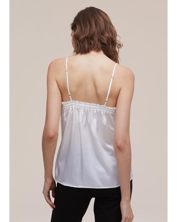 Casual Knot Design Silk Camisole-hover
