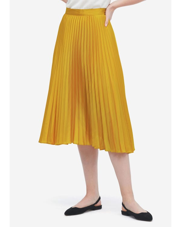 Exquisite Pleated Silk Skirt