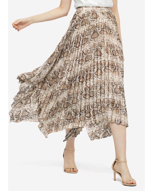 Snakeskin pattern Printed Skirt Snakeskin-w15 M