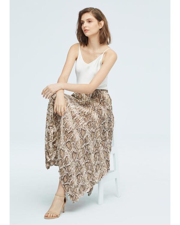 Snakeskin pattern Printed Skirt Snakeskin-w15 M-hover