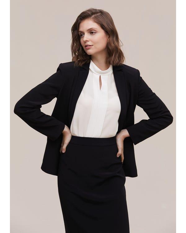 Women Elegant Half Turtleneck Silk Shirt