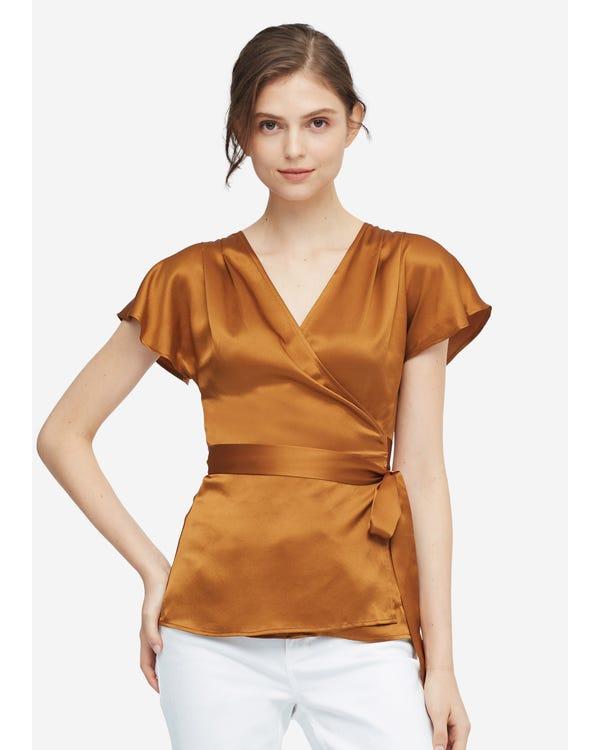 Elegant Feminine Simple Silk Blouse