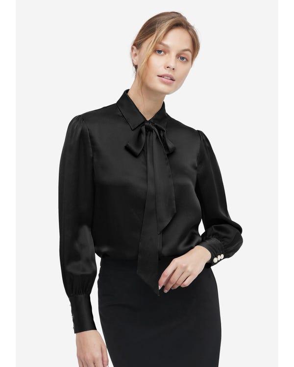 MIM 2 in 1 Silk Shirt Black XXL