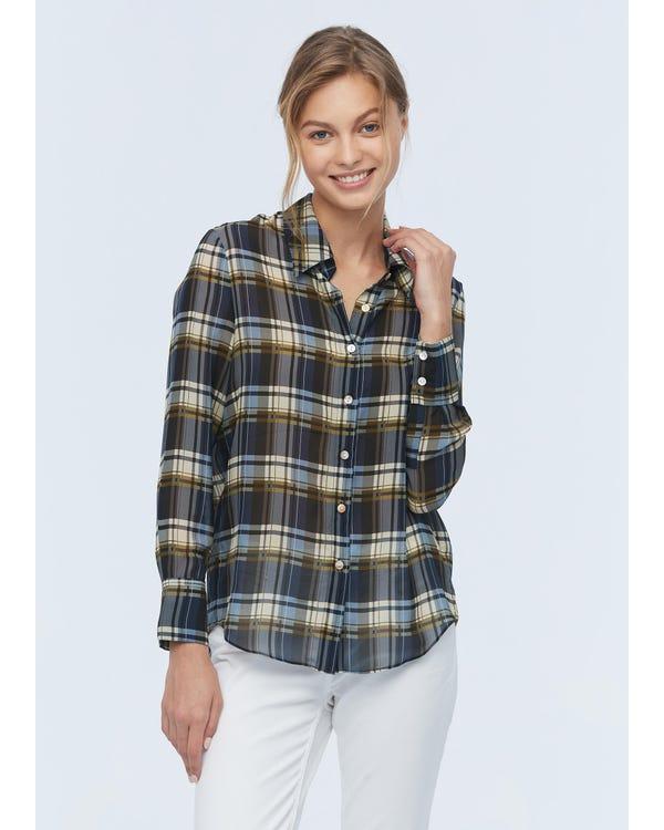 Regular Fit Womens Silk Shirt