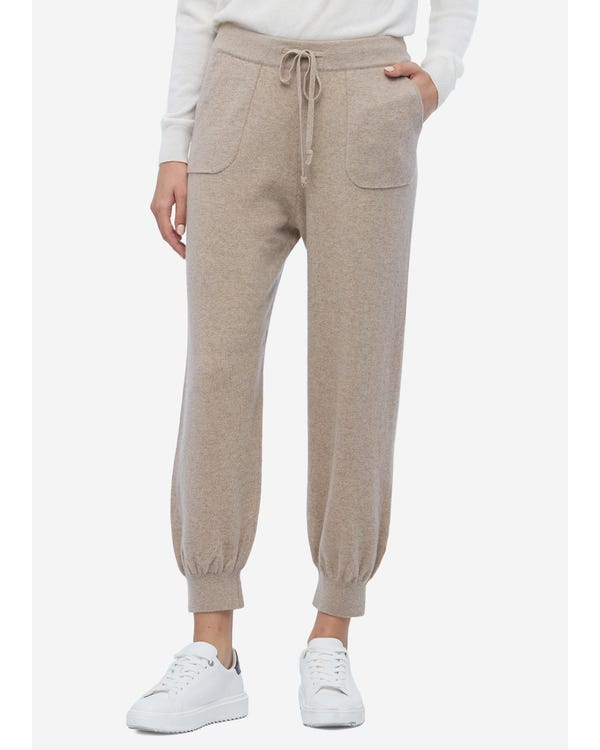 Women Luxury High-Waist Cashmere Sweatpants