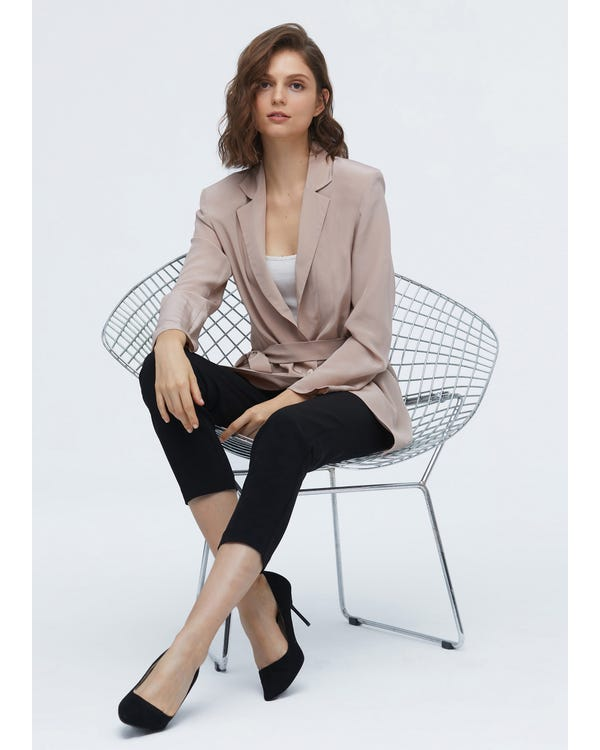 Effortless Chic Silk Blazer For Women-hover