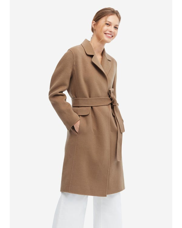 Casual Loose Wool Coat Golden-Camel S