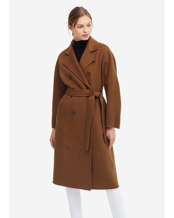 Cappotto in lana super calda a maniche lunghe