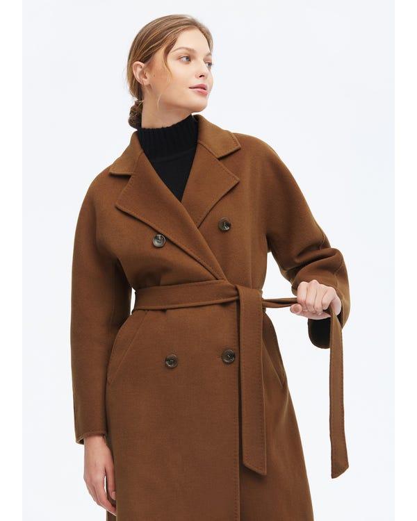 Cappotto in lana super calda a maniche lunghe-hover