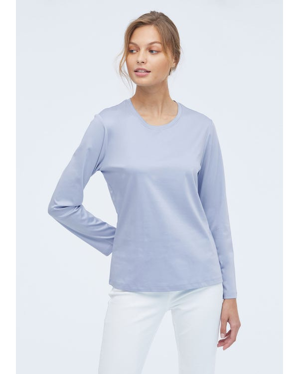 Lässiges bequemes gemischtes T-Shirt blue-w05 S-hover