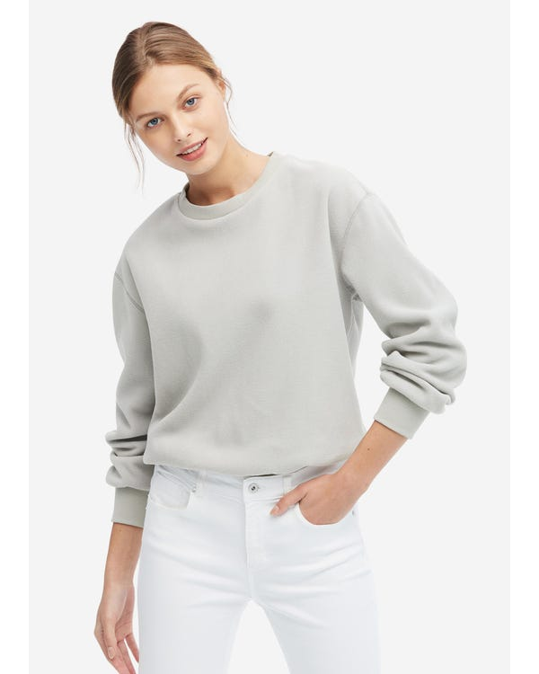 Comfortable RPET Sweatshirt For Women Gray XL