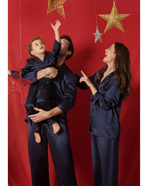 22 Momme Classic Full Length Silk Couple Pajamas Sets